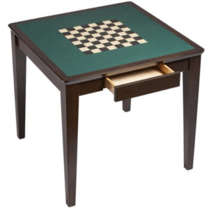 Square Games Table with Drawer