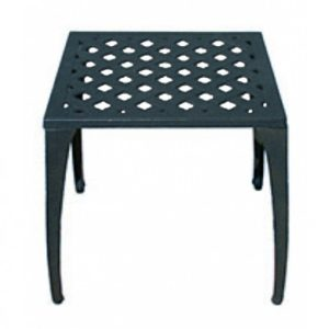 Grate Aluminium End Table