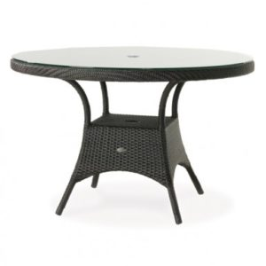 """Wicker Round 48"""" table"""