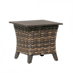 Fox Wicker End Table