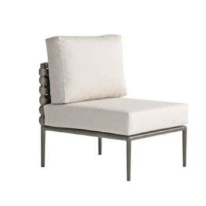 Continental Woven Armless Chair