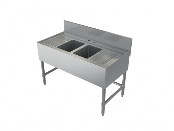 """Bar Sink, Two Compartment, 48"""" x 24"""""""
