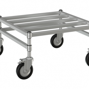 """Channel Dunnage Rack, 24"""" x 24""""Mobile"""