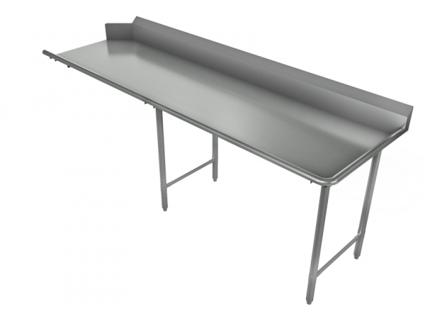 """Clean Dishtable, Straight, Right, 84"""" x 30"""""""