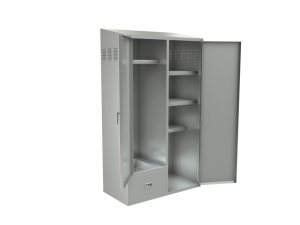 "Custodial Cabinet, Hinged Door, 48""x24"""