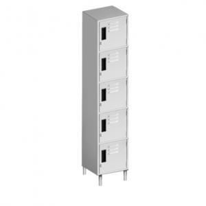 "Padlock Locker, 12"" x 15"", Six Compartments"
