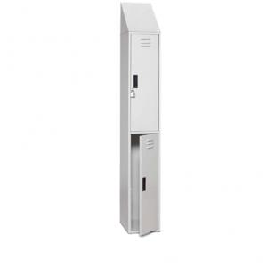 "Padlock Locker, 12"" x 15"", Two Compartments"