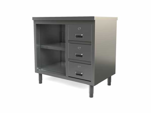 "Utility Cabinet, open, flat top, 48"" x 30"""