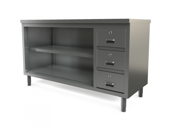 """Utility Cabinet, open, flat top, 72"""" x 30"""""""