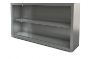 "Utility Cabinet, open, wall-mounted, 60"" x 14"""