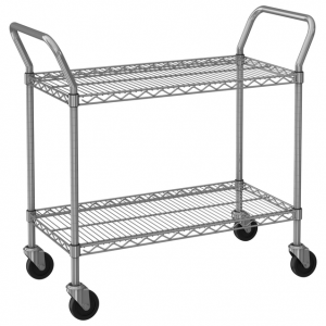 "Utility Cart, 60"" x 24"", 2-Tier"
