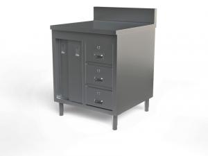 "Utility cabinet with backsplash, 24"" x 24"""