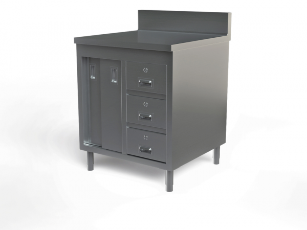 "Utility cabinet with backsplash, 24"" x 24"""