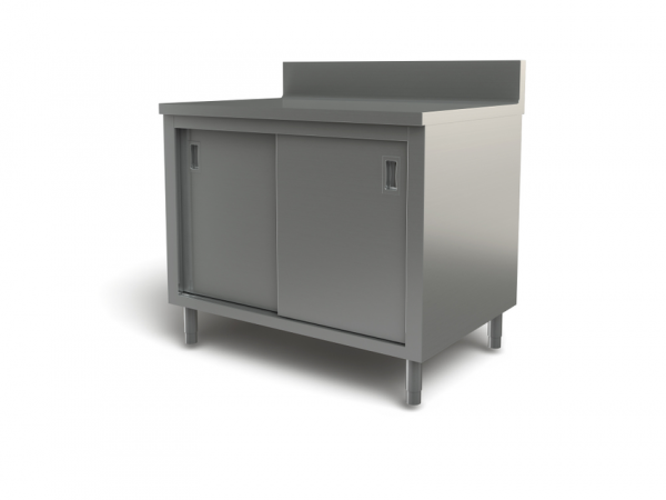 "Utility cabinet with backsplash, 30"" x 24"""