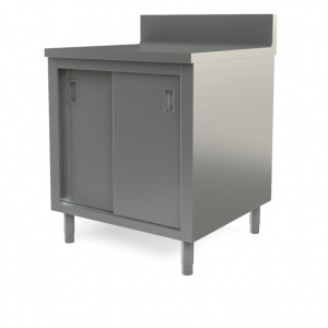 "Utility cabinet with backsplash, 30"" x 30"""