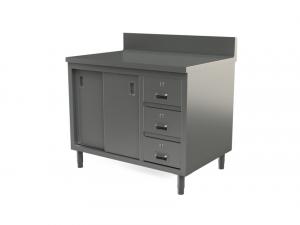"Utility cabinet with backsplash, 48"" x 30"""