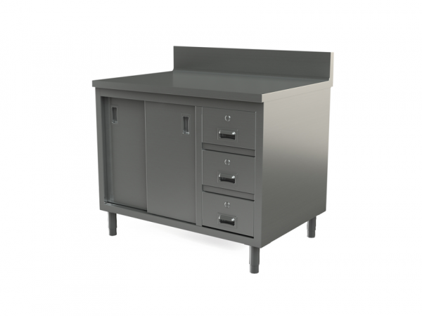 "Utility cabinet with backsplash, 48"" x 30"""