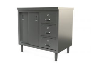 "Utility cabinet with flat top, 48"" x 30"""
