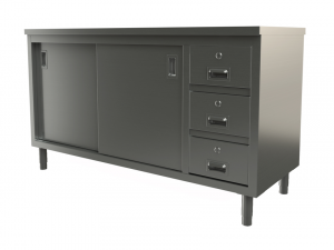 """Utility cabinet with flat top, 72"""" x 30"""""""