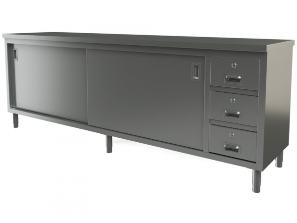 """Utility cabinet with flat top, 96"""" x 30"""""""