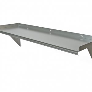 "Wall Mount Shelf, 54"" x 18"", Bracket Below"