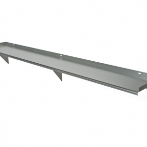 "Wall Mount Shelf, 96"" x 18"", Bracket Above"