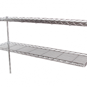 "Wire Shelf, Cantilever, 72"" x 12"", Polyseal"