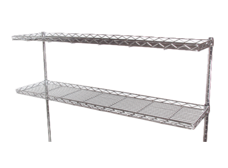 """Wire Shelf, Cantilever, 72"""" x 12"""", Polyseal"""