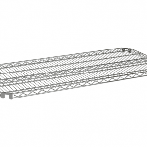 "Wire Shelf, Flex Mount, 60"" x 24"", Zinc"