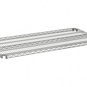 """Wire Shelf, Flex Mount, 60"""" x 24"""", Zinc"""