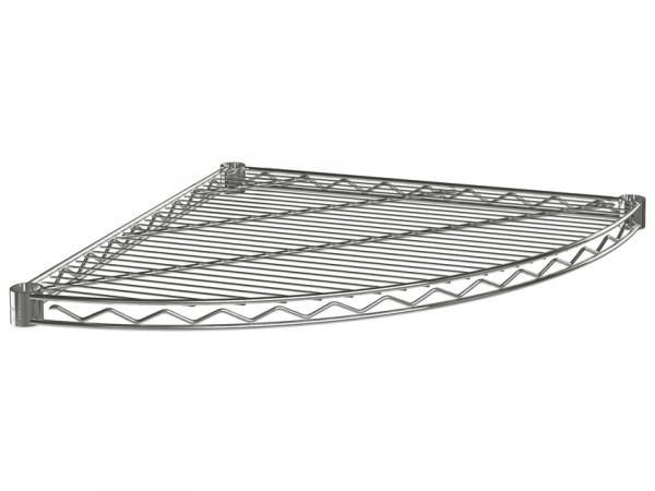 """Wire Shelf, Quarter Round, 24"""", Chrome"""