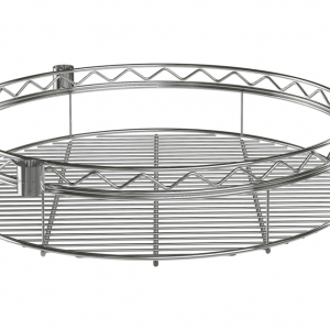 "Wire Shelf, Round, 36"", Chrome"