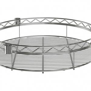 """Wire Shelf, Round, 36"""", Chrome"""