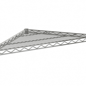 "Wire Shelf, Triangle, 24"", Chrome"