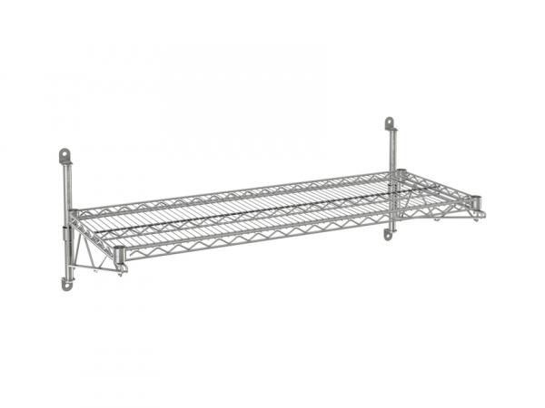 """Wire Wall Shelf, 1 Tier, 24"""" x 66"""" x 14"""""""