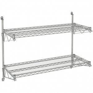 "Wire Wall Shelf, 2 Tiers, 24"" x 72"" x 34"""
