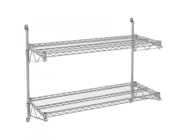 """Wire Wall Shelf, 2 Tiers, 24"""" x 72"""" x 34"""""""