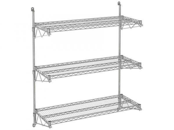 """Wire Wall Shelf, 3 Tiers, 24"""" x 72"""" x 54"""""""