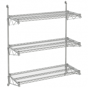"Wire Wall Shelf, 3 Tiers, 24"" x 72"" x 54"""